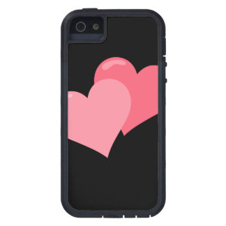 Twin Pink Hearts iPhone 5 Covers