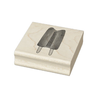 Twin Pop Popsicle Popsicles Frozen Ice Lolly Stamp