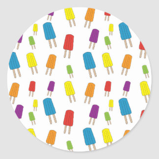 Twin Pops Pattern Classic Round Sticker