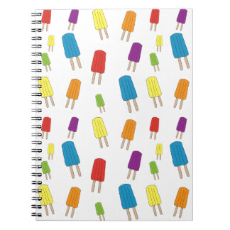 Twin Pops Pattern Spiral Notebook