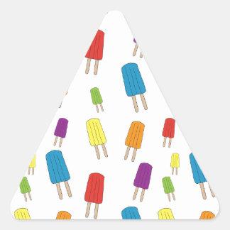Twin Pops Pattern Triangle Sticker