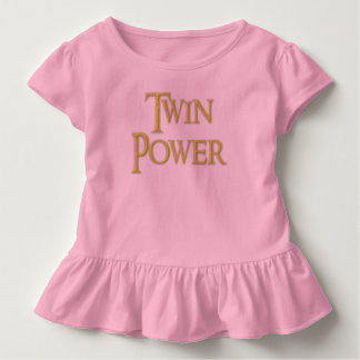 Twin, power, baby, girl, Ruffle  dress. Toddler T-Shirt