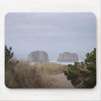Twin Rocks, Rockaway Beach, OR Mousepad