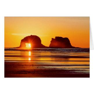 Twin Rocks Sunset Greeting Card