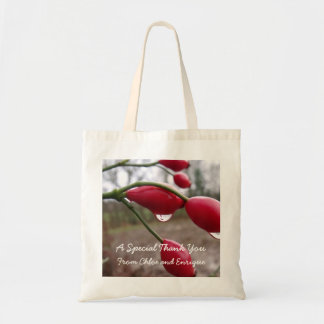 Twin Rose Hips And Rain Personalized Wedding