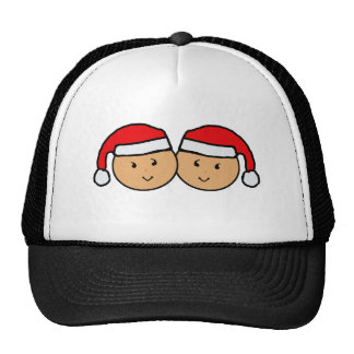 Twin Santa Hat Graphic