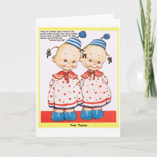 Twin Sisters Happy Birthday Greeting Card Zazzlecomau