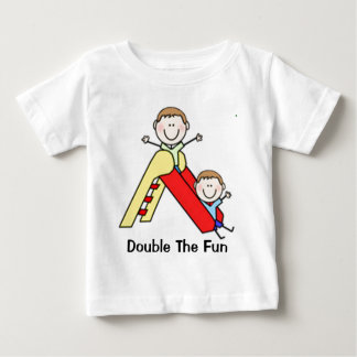 Twin Stick Figures Baby T-Shirt