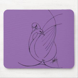Twin swans mousepad