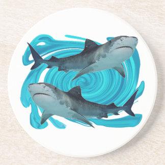 TWIN TIGER SHARKS COASTERS