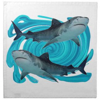 TWIN TIGER SHARKS NAPKIN