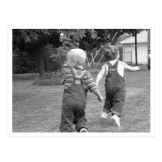 Twin Toddlers at Play Postcard