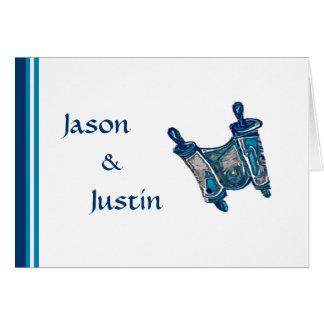 Twin Torah Thank You Note Card