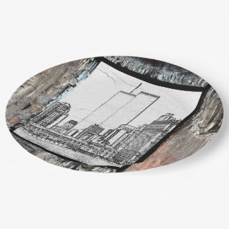 Twin Towers 9 Inch Paper Plate