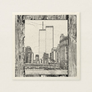 Twin Towers Disposable Serviettes