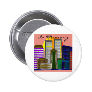 Twin Towers In Memory of 911 Button