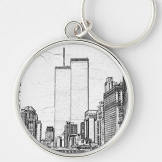 Twin Towers Key Ring