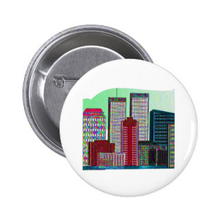 Twin Towers OIL PAINTING 1 Button