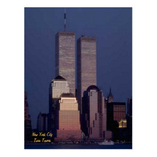 Twin Towers Postcard