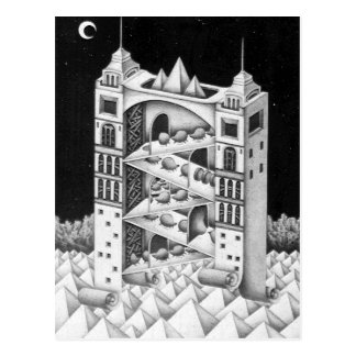 Twin Towers Postcard
