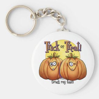 Twin Trick or Treat Pumpkin keychain