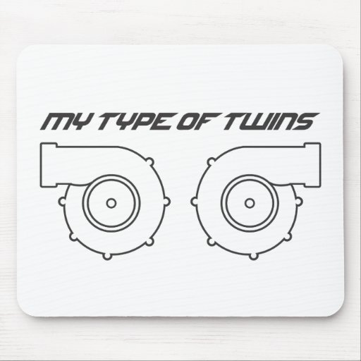 Twin turbos mouse pad