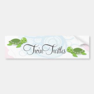 Twin Turtles Bumper Sticker  |  Girls