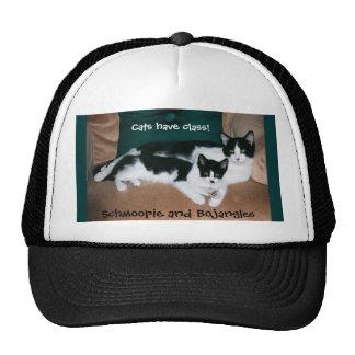 Twin tuxedo cats hat