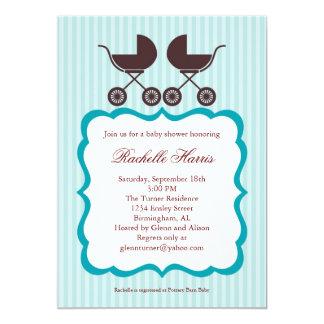 Twin Unisex Baby Shower Invitation