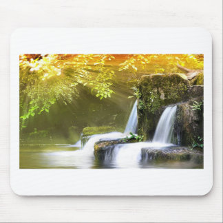 Twin Waterfalls Mouse Pad
