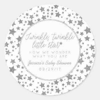 Twink, Twinkle Little Star Baby Shower Favor Classic Round Sticker