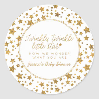 Twink, Twinkle Little Star Baby Shower Favor Classic Round Sticker