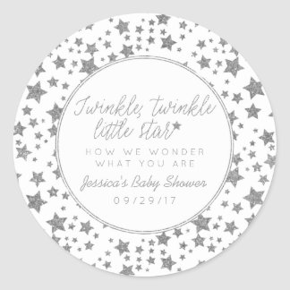 Twink, Twinkle Little Star Baby Shower Favor Round Sticker