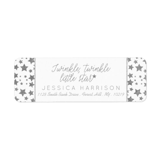 Twink, Twinkle Little Star Baby Shower Return Address Label