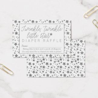 Twink Twinkle Little Star Baby Showr Diaper Raffle Business Card