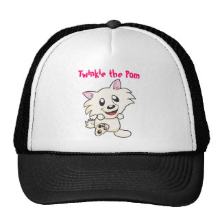 Twinkie the Pom cute black trucker hat