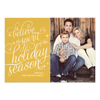 Twinkle 24KT Script Holiday Photo Card