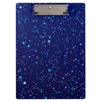 Twinkle Blue Stars2 Clipboard
