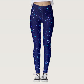 Twinkle Blue Stars2 Leggings