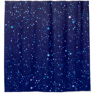 Twinkle Blue stars 2 Shower Curtain