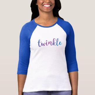 Twinkle Christmas Holiday Blue/Purple Star T-Shirt