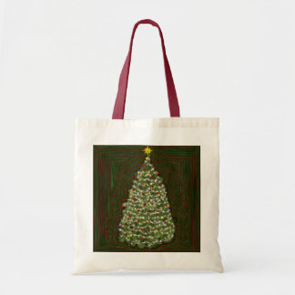 Twinkle Christmas Tree Tote Bag
