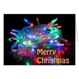 Twinkle Lights Blank Merry Christmas Card