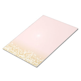 Twinkle Lights Blush and Gold Notepad