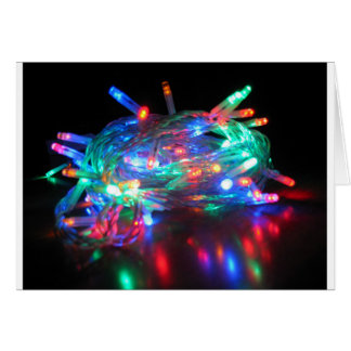 Twinkle Lights Happy Holidays Card