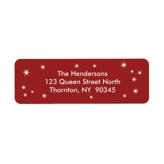 Twinkle Lights Return Address Labels
