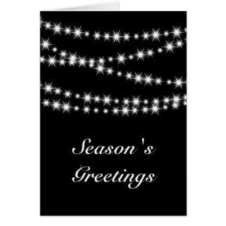 Twinkle Lights Season's Greetings (black) Card