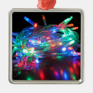 Twinkle Lights Square Ornament
