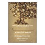 Twinkle Lights Tree Rustic Wedding RSVP card 9 Cm X 13 Cm Invitation Card