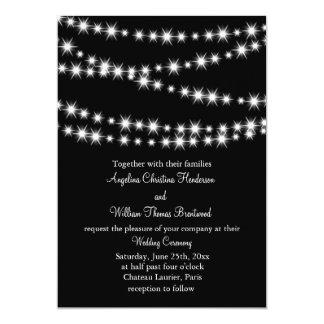 Twinkle Lights Wedding Invitation (black)